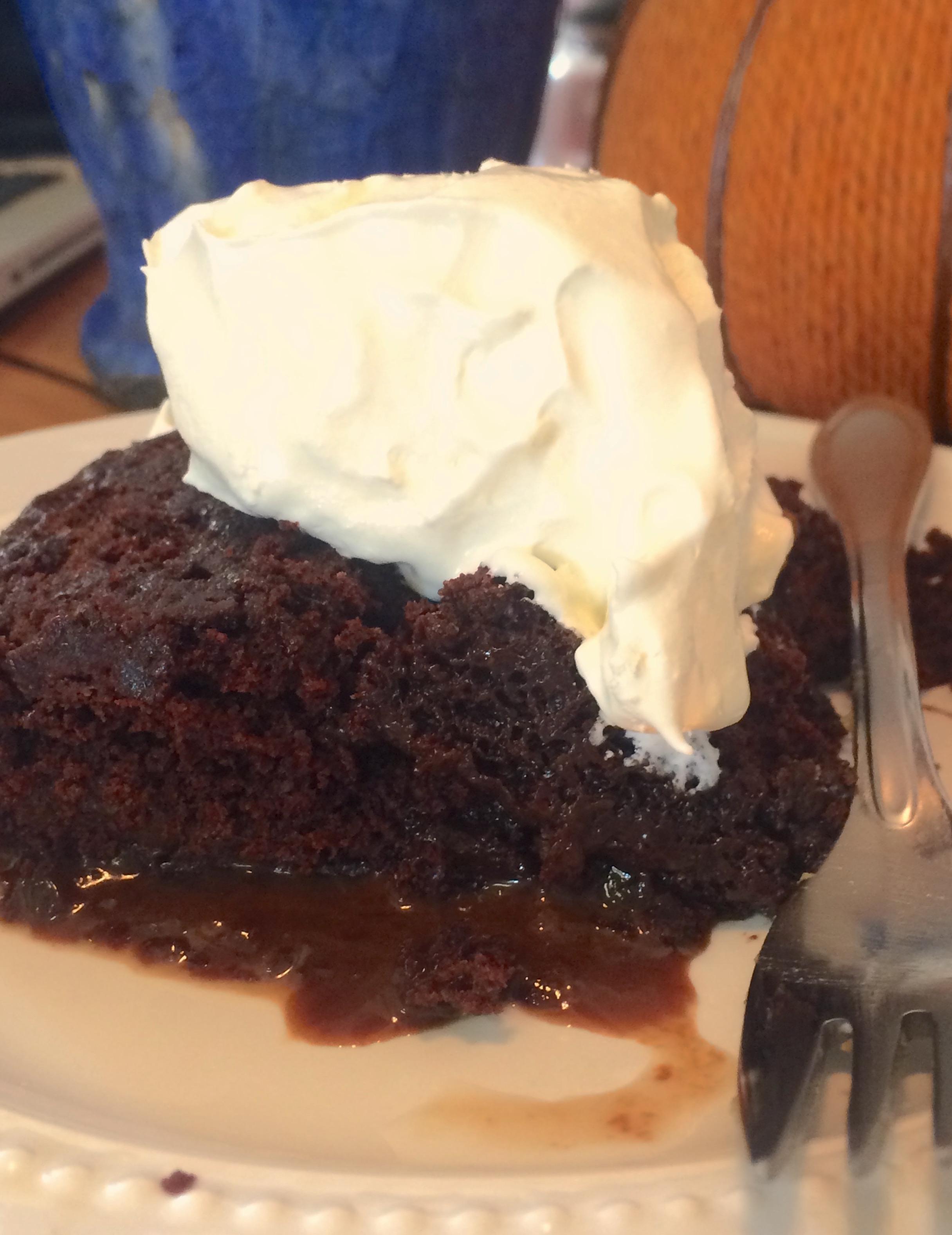 sweet hot fudge sundae cake 7 00 in stock hot fudge sundae cake a ...